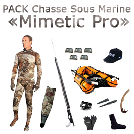 """Pack chasse sous marine """"Mimetic Pro"""""""